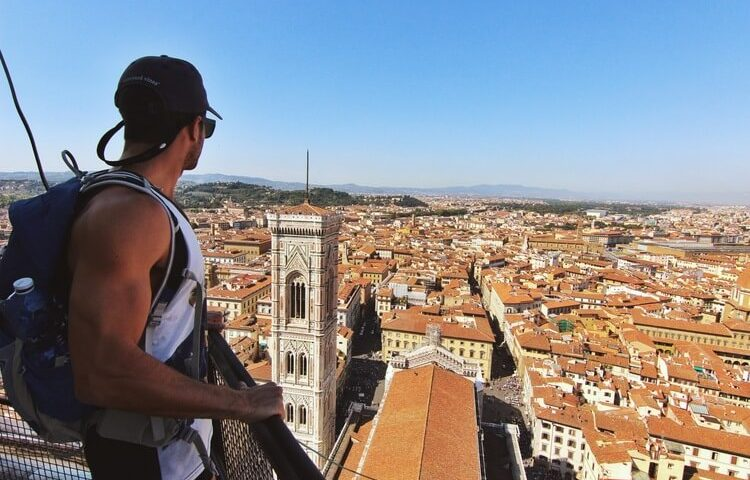 couples coordinates italy yoga retreat michael on top of the duomo