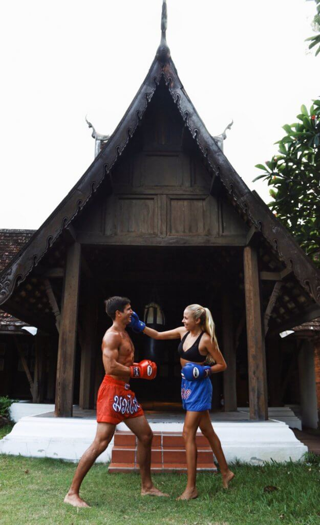 couples coordinates best travel workouts muay thai thailand dhara dhevi chiang mai