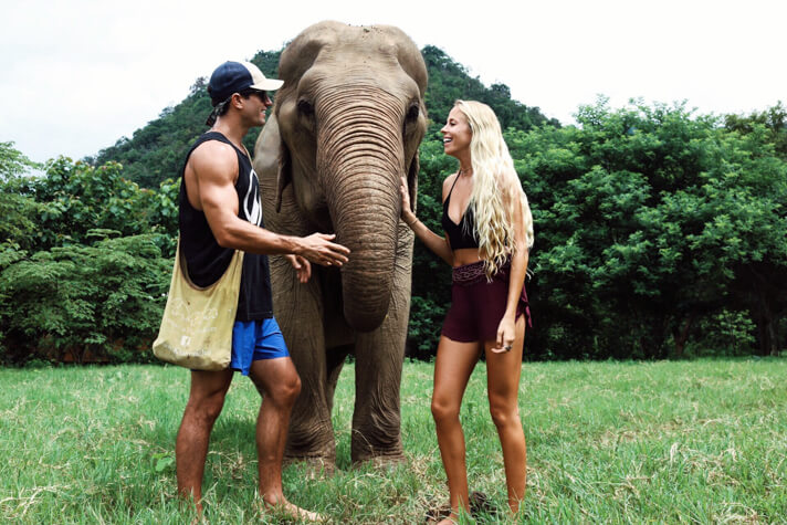 couples coordinates why you shouldn't ride elephants in thailand elephant nature park chiang mai