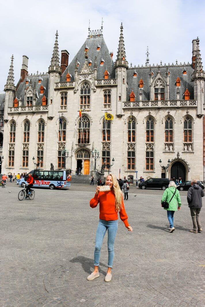 bruges day trip best waffles in Bruges