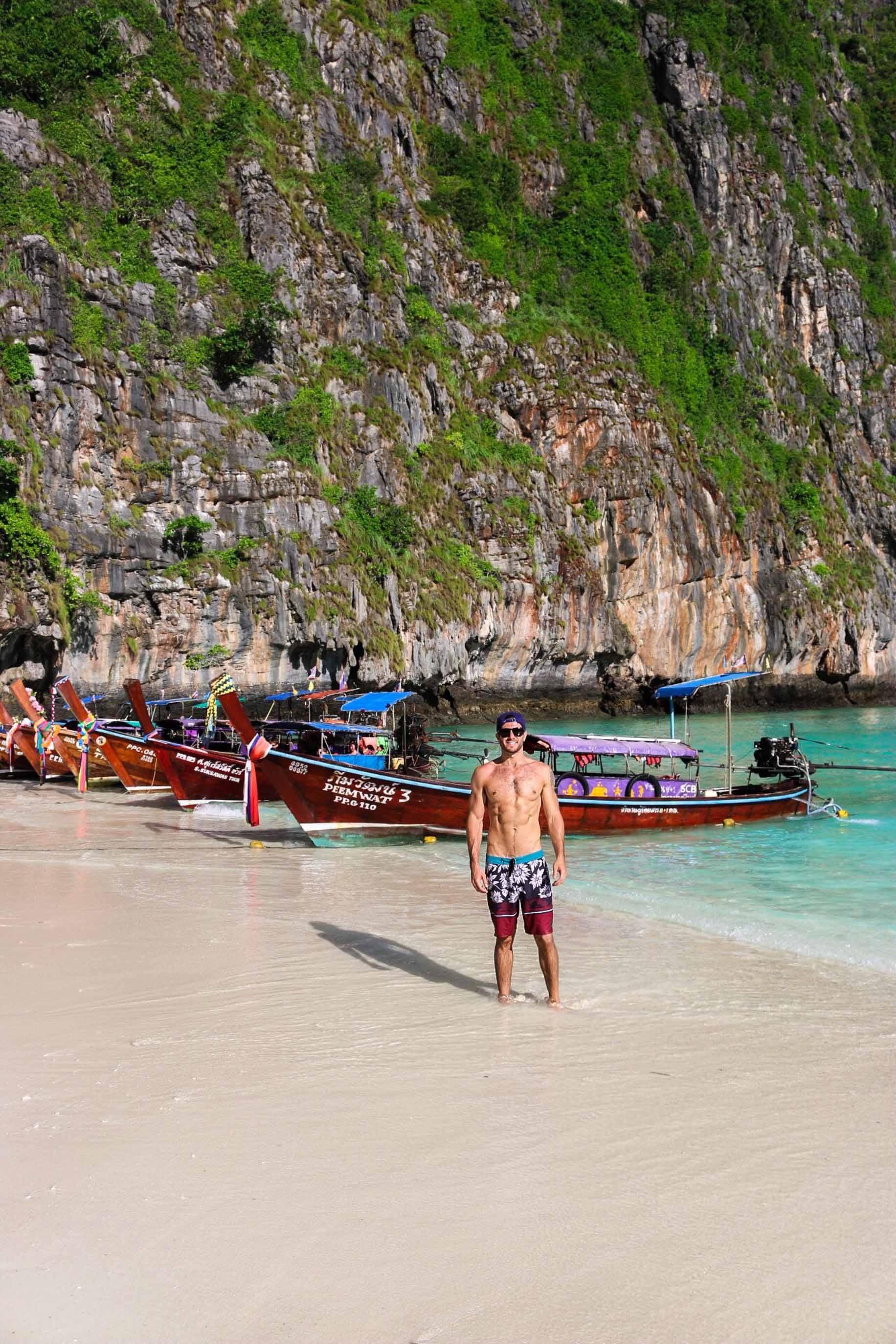 couples coordinates michael maya beach koh phi phi thailand krabi