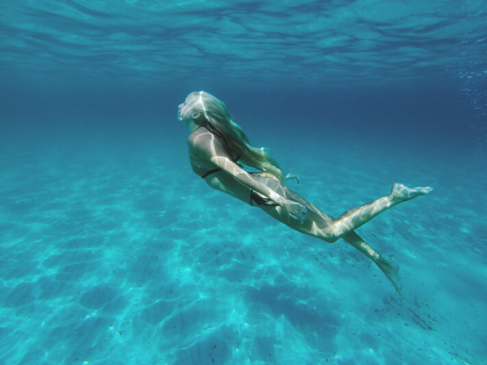 Underwater in Mondello, Sicily