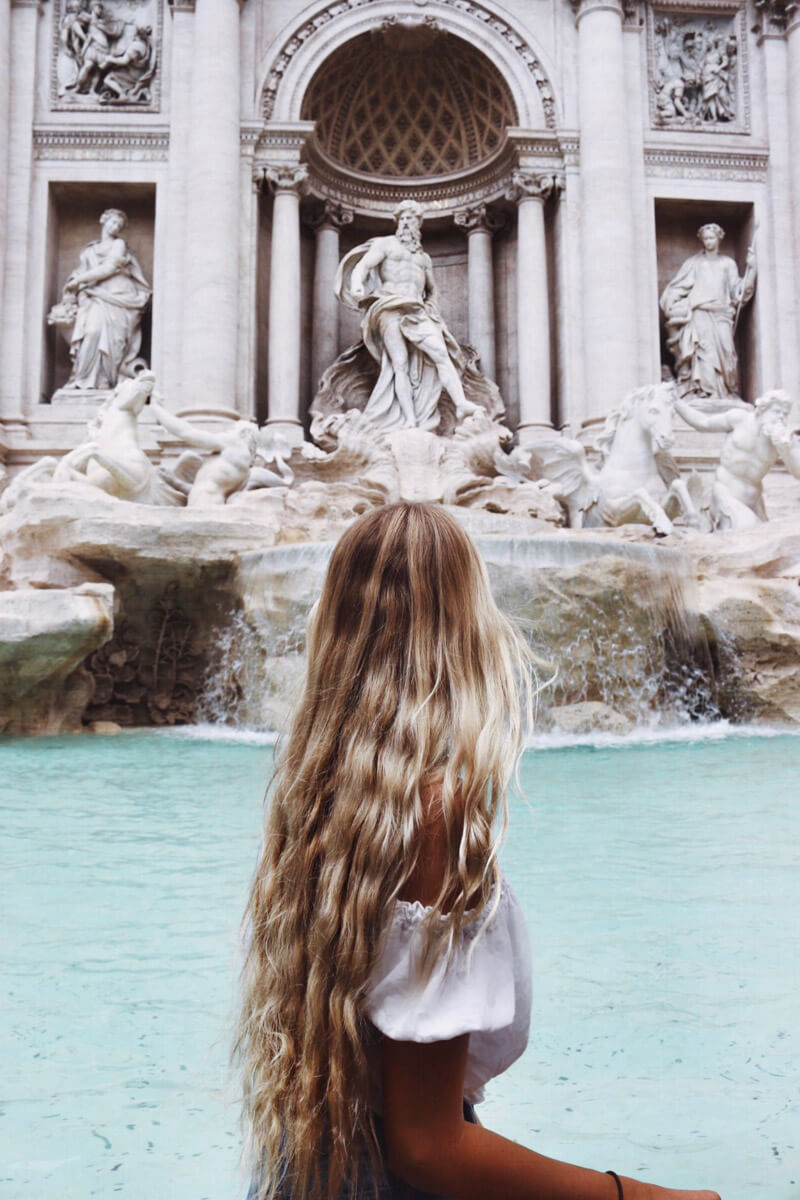 Trevi Fountain, Rome - a must visit on your Italy vacation or Italy honeymoon
