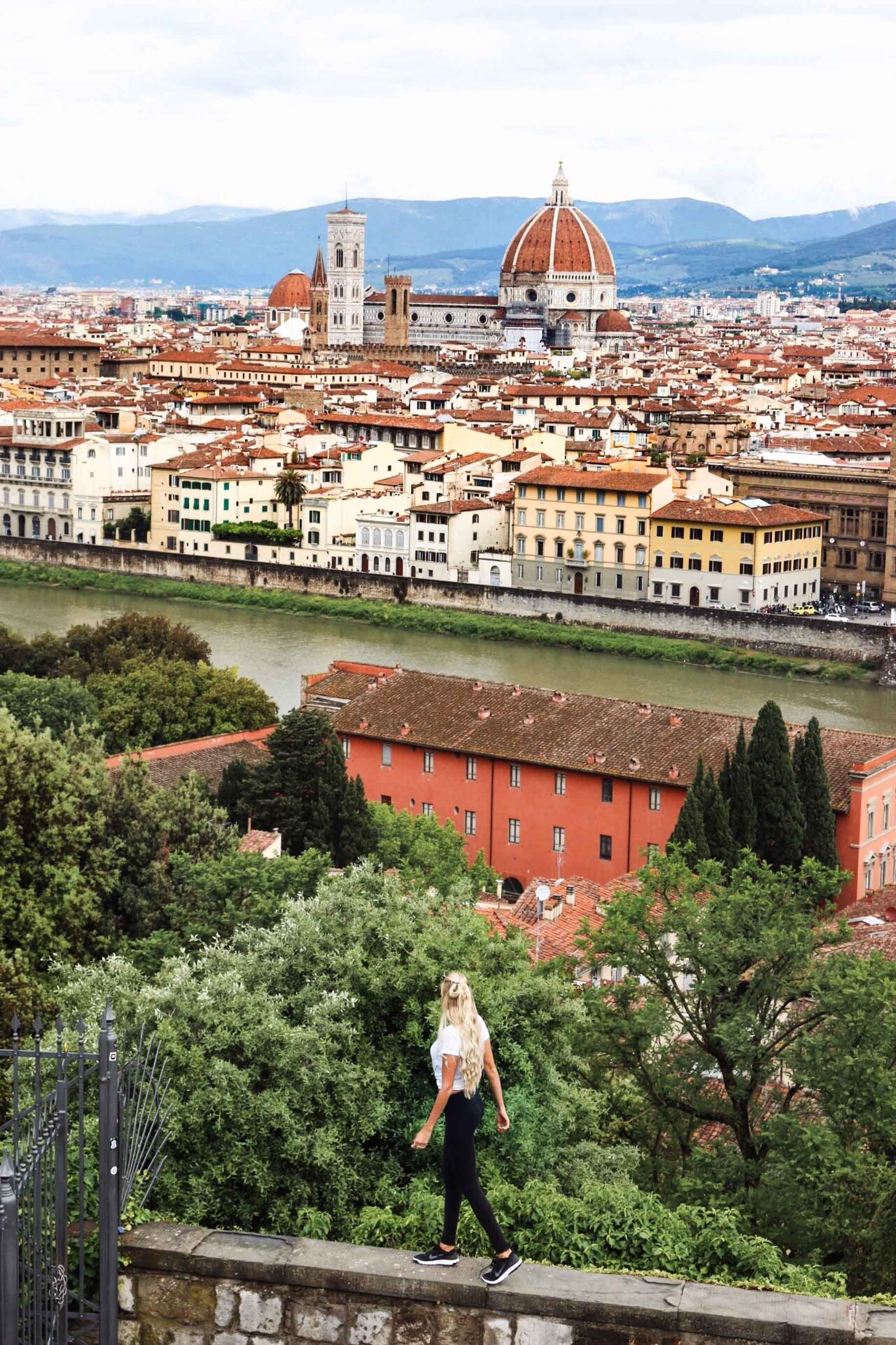 couples coordinates italy wedding destinations alex at piazzale michelangelo florence italy with view of duomo