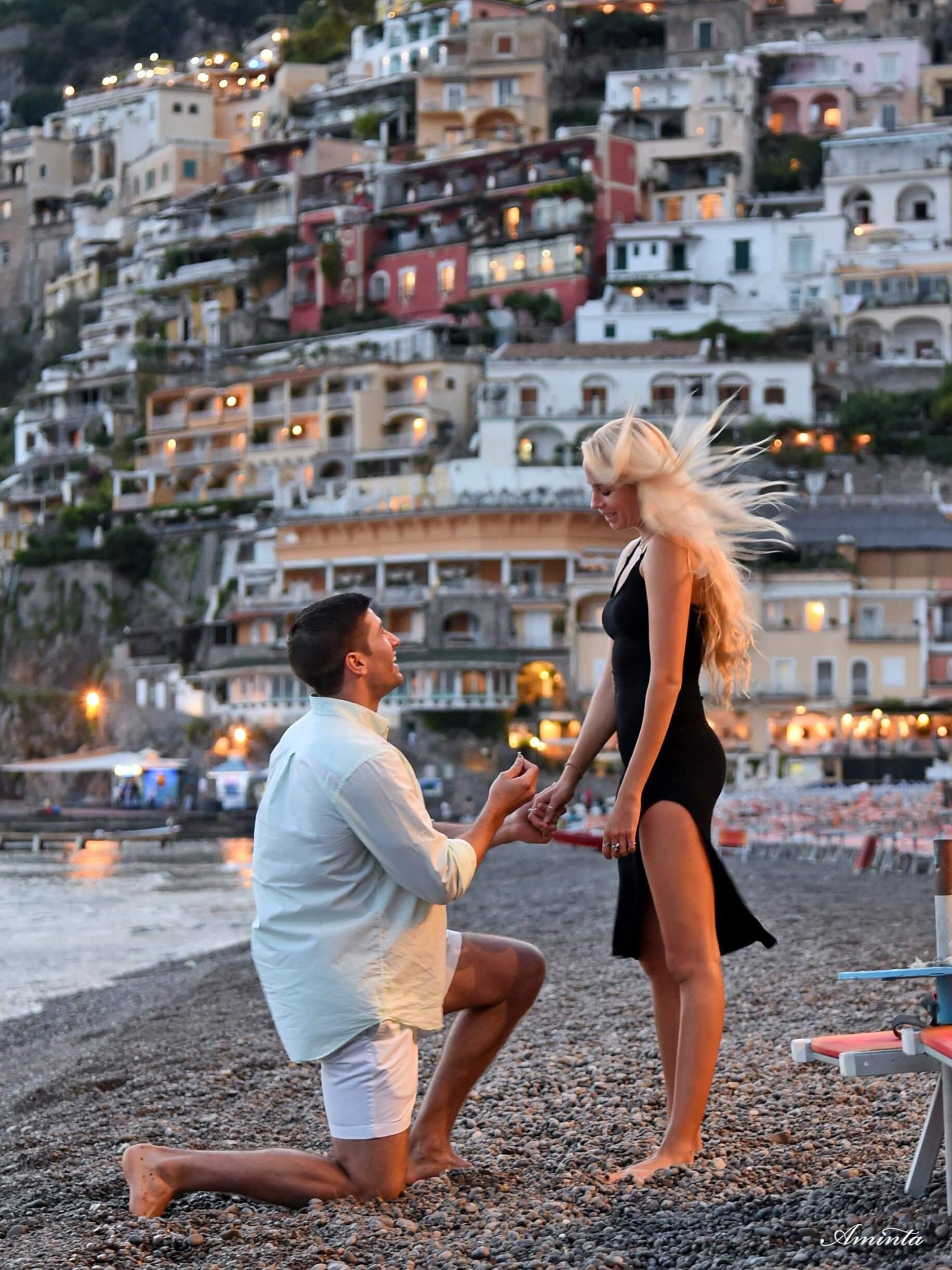 positano couples coordinates proposal in positano italy wedding