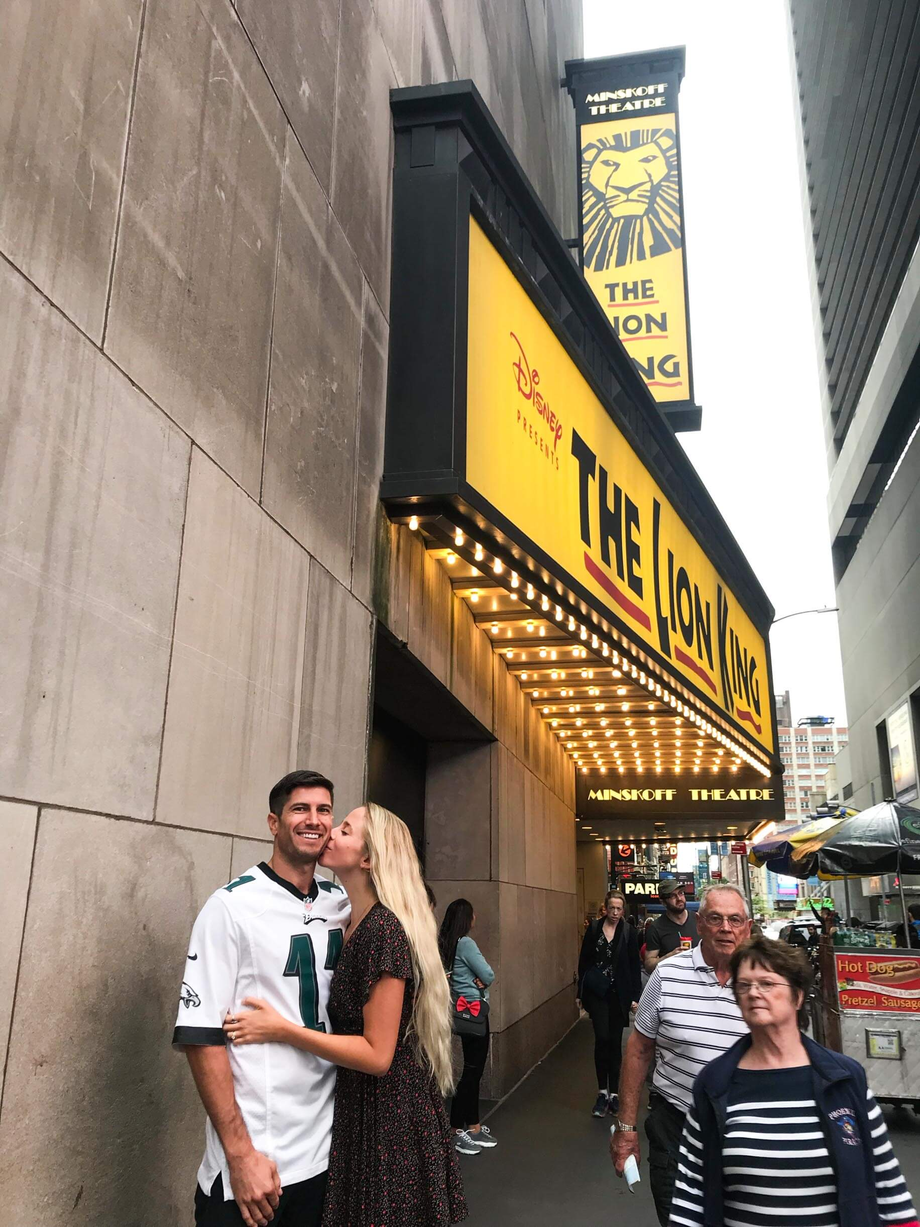 couples coordinates new york city date night the lion king