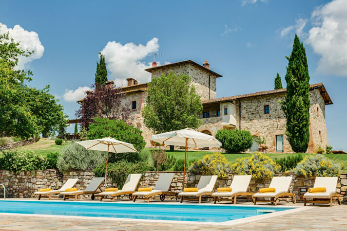 coordinates italy yoga retreat villa pool and villa view