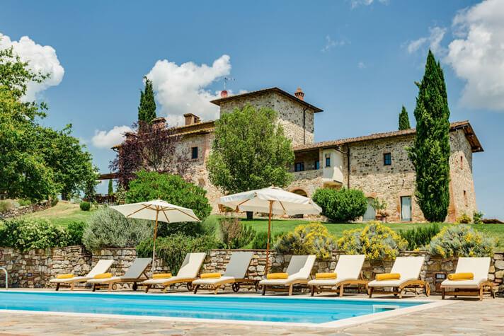 coordinates italy yoga retreat villa pool and villa view