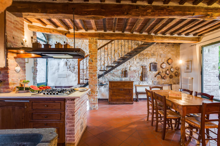 coordinates italy yoga retreat villa kitchen and dining room