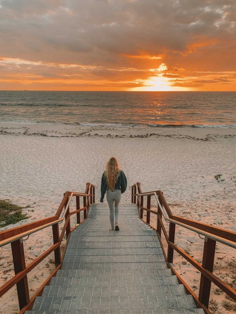 coordinates is moving to perth australia sunset at cottesloe beach