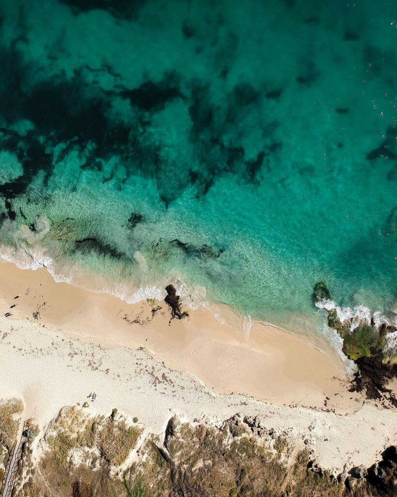dji spark drone shot over cottesloe beach perth western australia