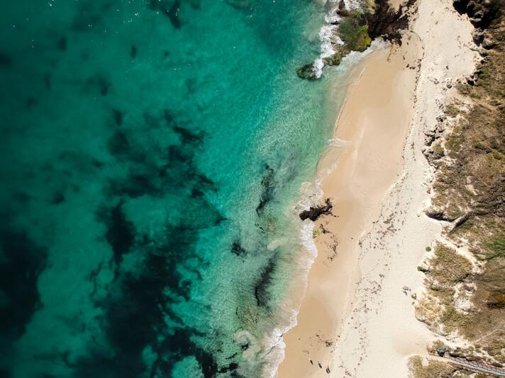 couples coordinates cottesloe beach perth australia western australia drone