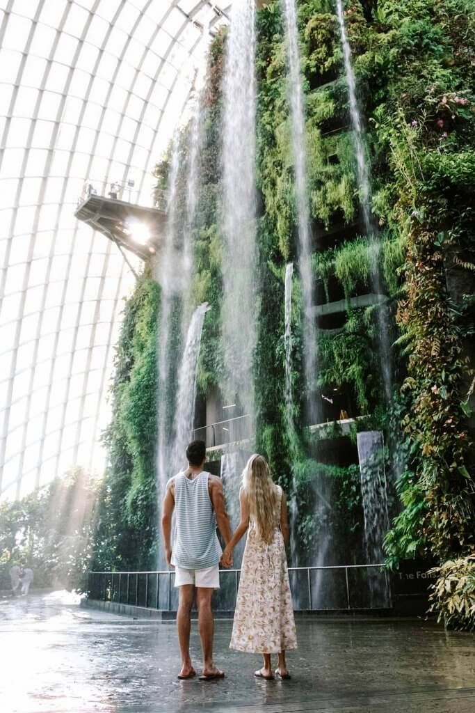 couples coordinates things to do in singapore gardens by the bay cloud forest