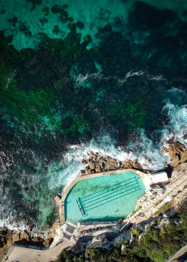 couples coordinates fun things to do in sydney for couples bronte beach pool drone shot