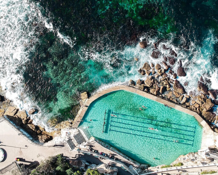 couples coordinates best honeymoon destinations sydney bronte beach pool