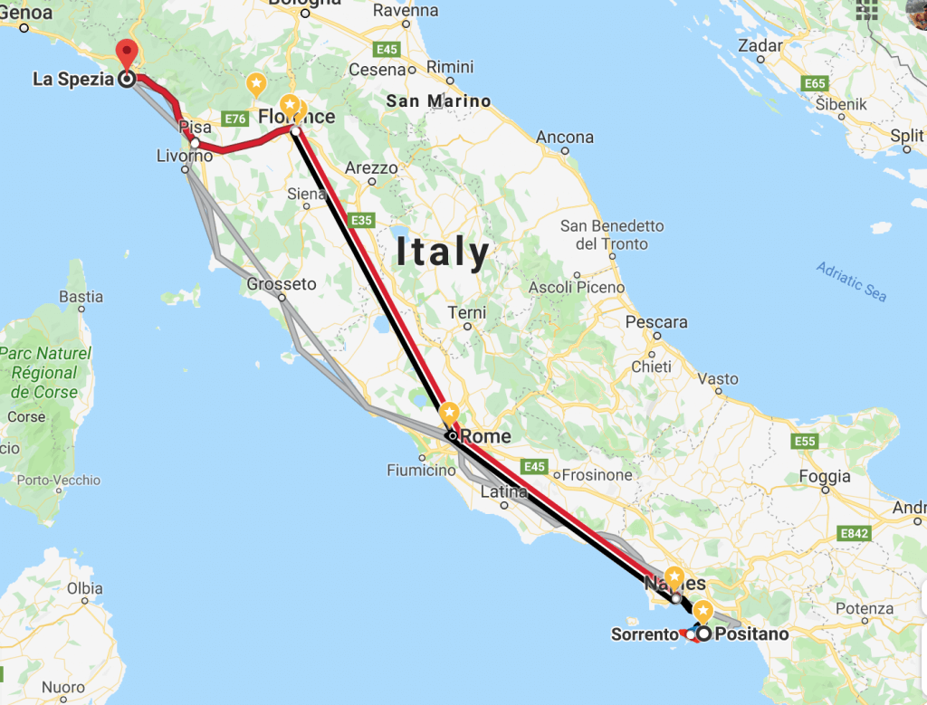 couples coordinates how to get to cinque terre from the amalfi coast