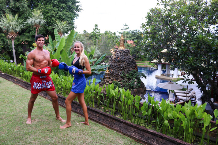 couples coordinates best travel workouts muay thai chiang mai dhara dhevi thailand