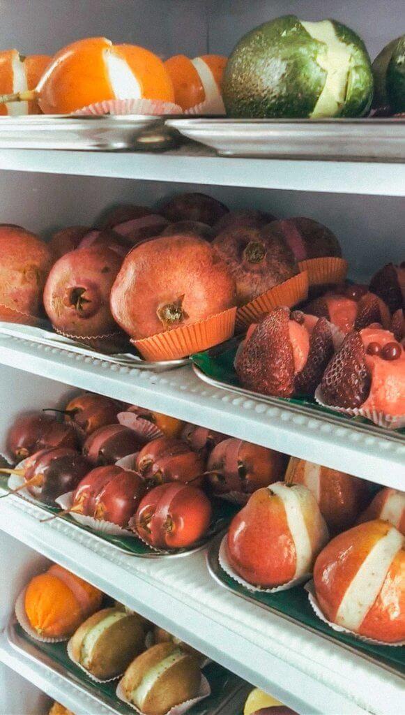 fruit sorbetto at gelateria de medici in florence italy