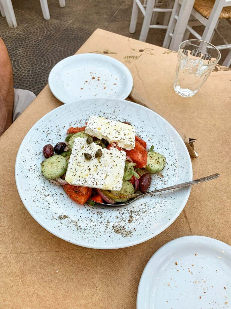 greek salad milos greece