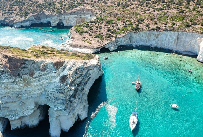couples coordinates milos travel guide greece kleftiko