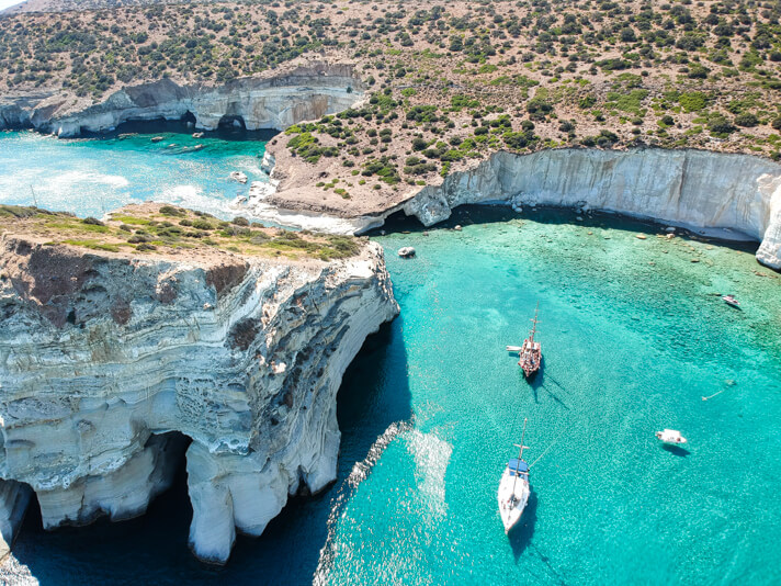 couples coordinates milos travel guide greece kleftiko