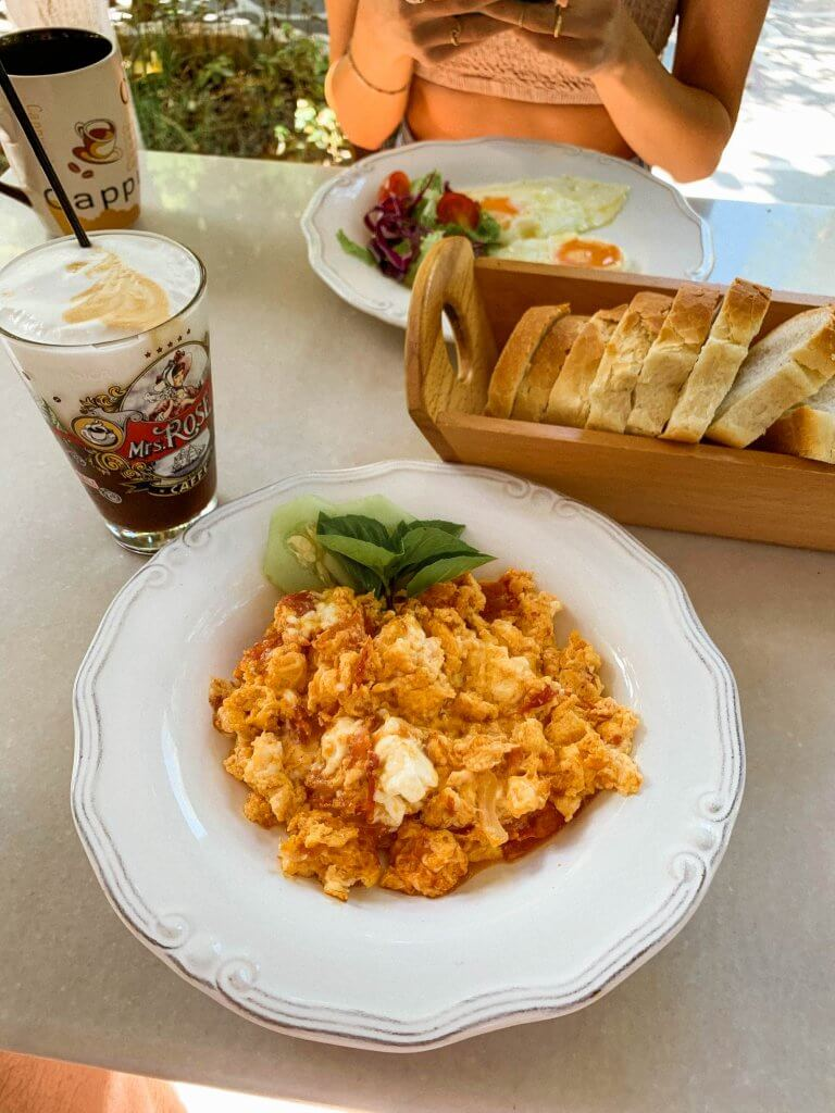 greek breakfast feta eggs kivotos ton gefseon pollonia milos greece