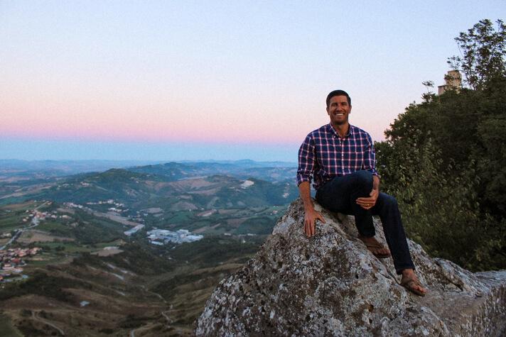 san marino day trip michael with view over rimini and adriatic sea 5-2