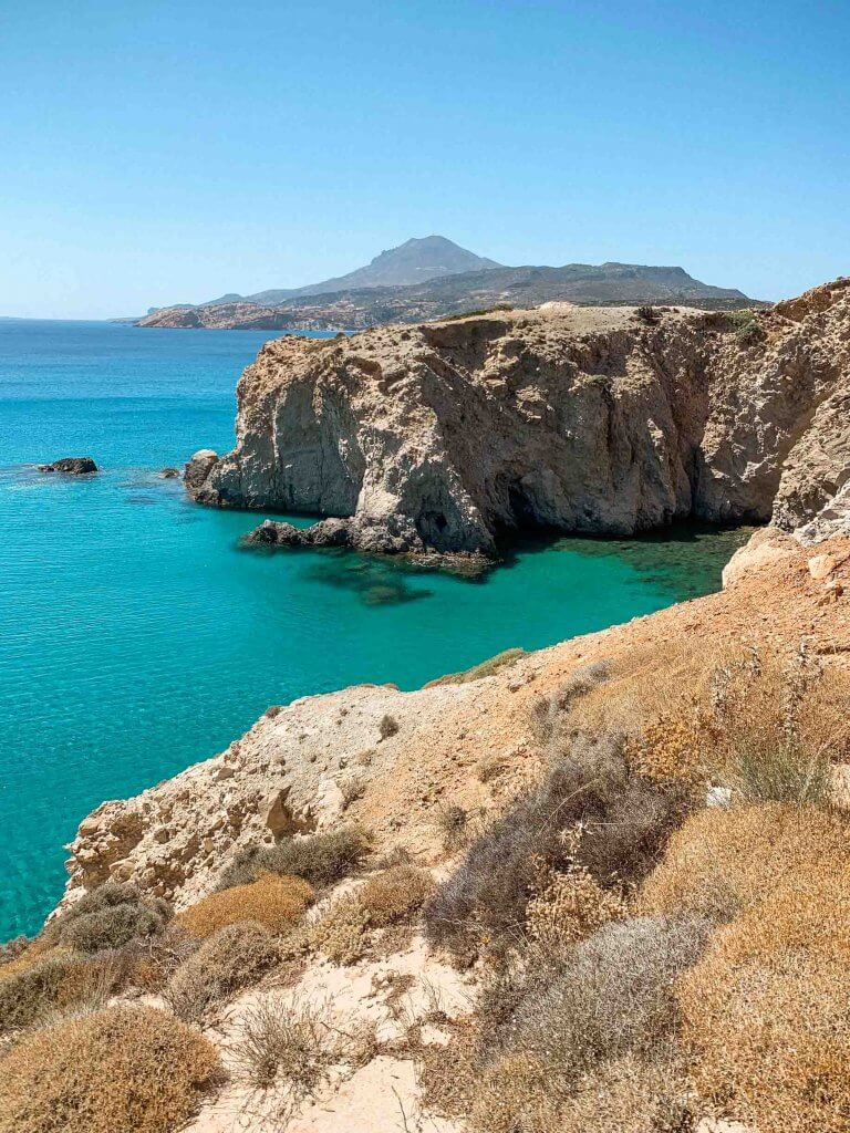 tsigrado beach milos greece best beaches milos greece