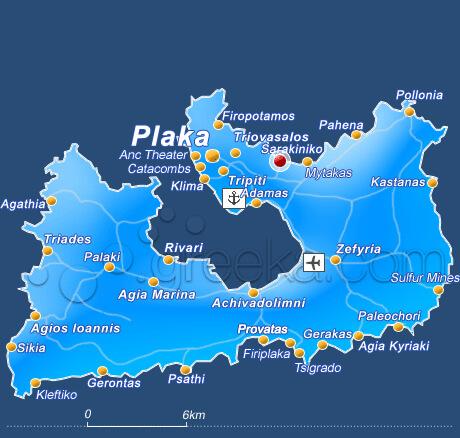 milos beaches map couples coordinates greece