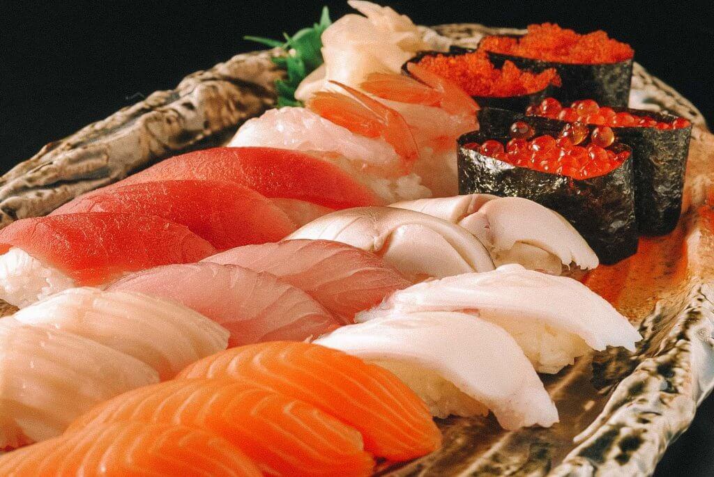 sushi in tokyo japan
