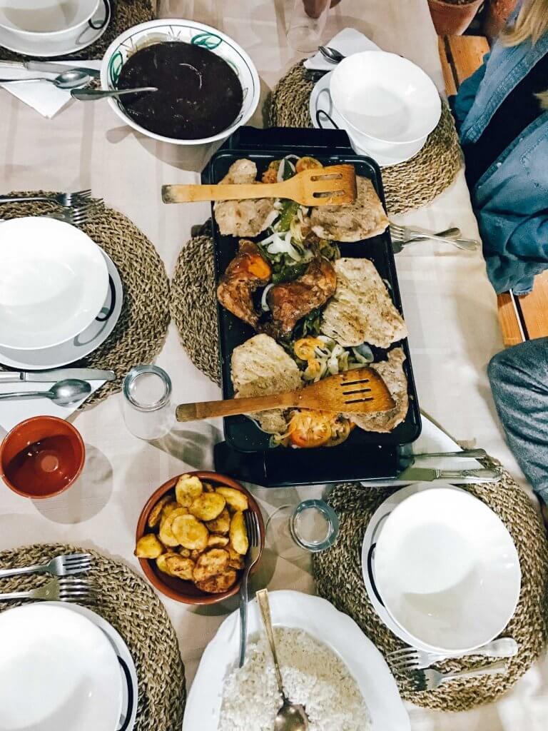 dinner in vinales cuba