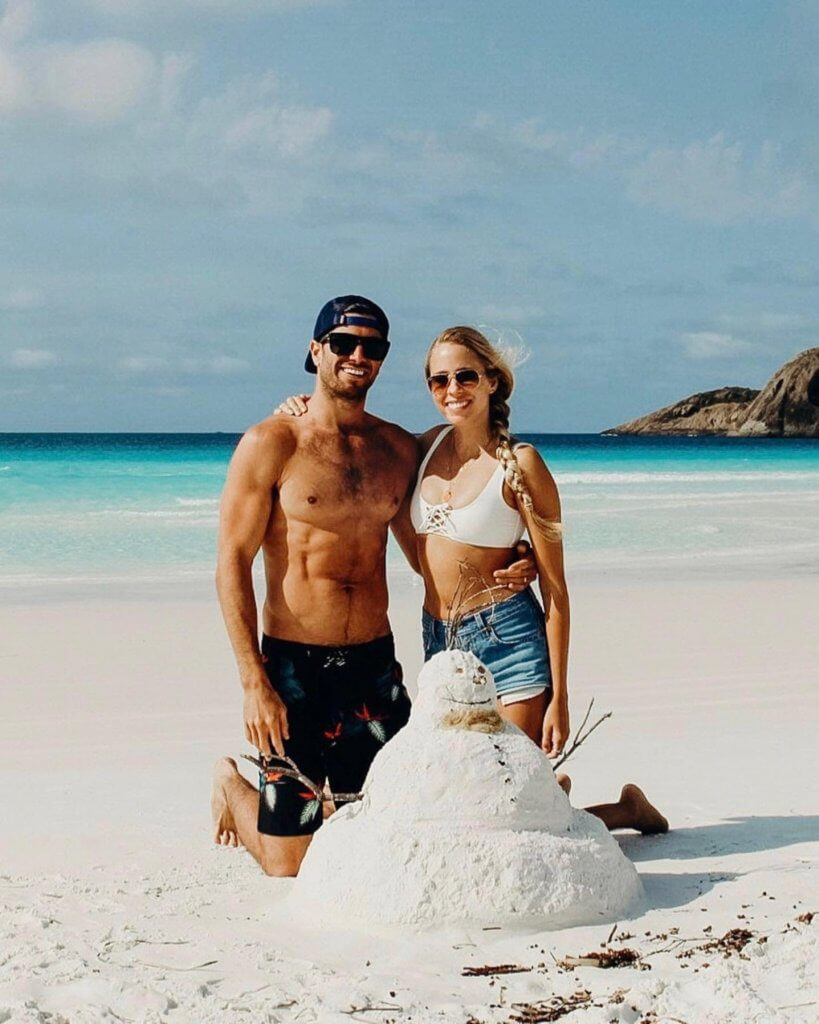 couples coordinates esperance western australia alex and michael snow sand man at lucky bay