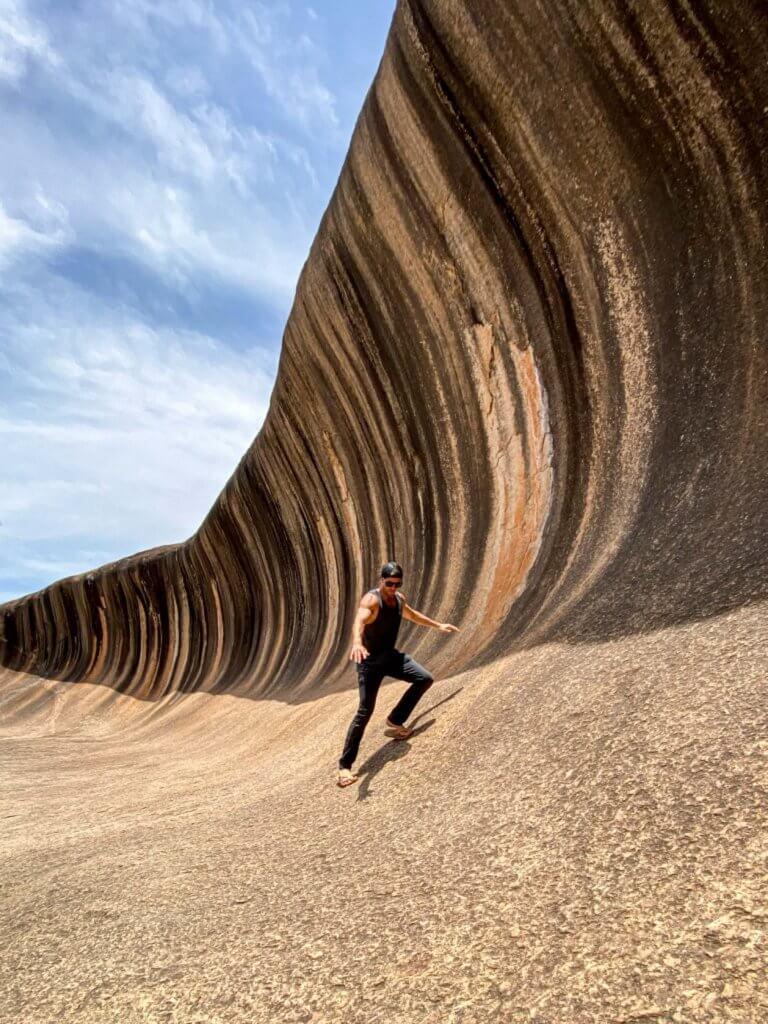couples coordinates esperance western australia road trip michael at wave rock laird hamilton teahupoo wave